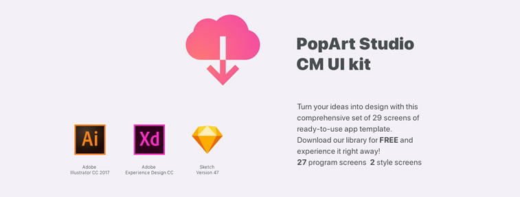 popart studio free ui kit download