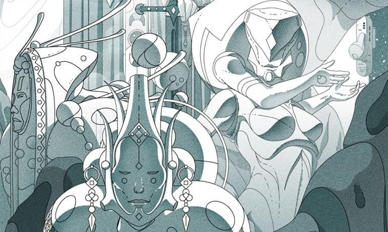 sci-fi illustration victorien aubineau octahedron 2