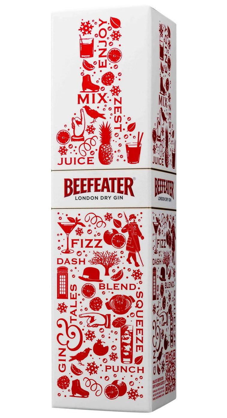 Beefeater Christmas packaging design 2