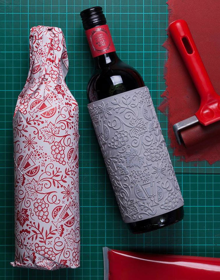 Buddy Creative Wine Christmas 3 packaging design
