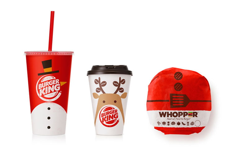 Burger King Christmas packaging design 3