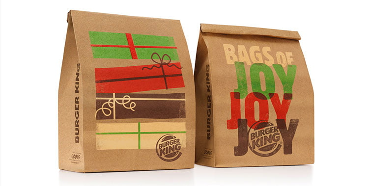Burger King Christmas packaging design 1