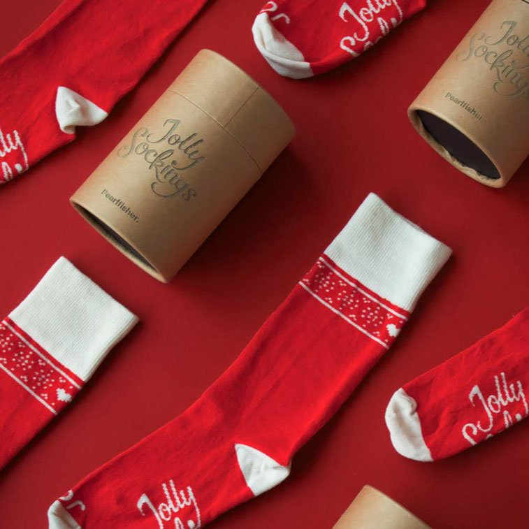 Jolly Socking campaign homeless for Christmas packaging design 2