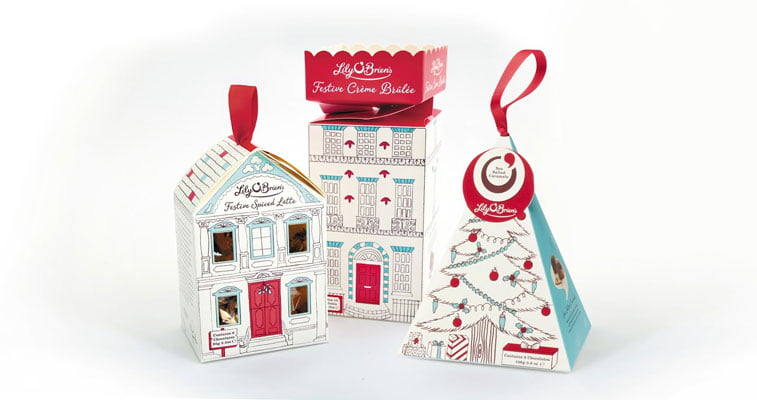Lilly O'brien's Christmas packaging design 1