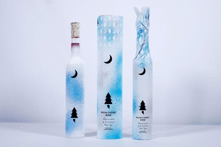 Moon Cherry Wine pacakging design 3