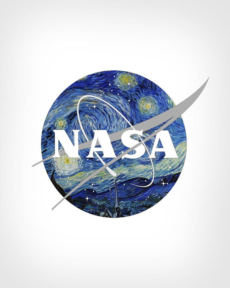 NASA + Zvezdana noć Vinsent van Gog