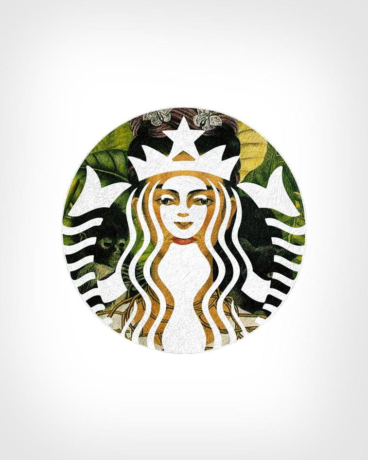 Starbaks + Autoportret sa ogrlicom i slavujem Frida Kalo