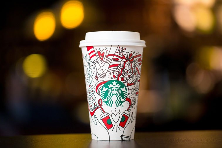 Starbucks cup Christmas package 1ging design 1