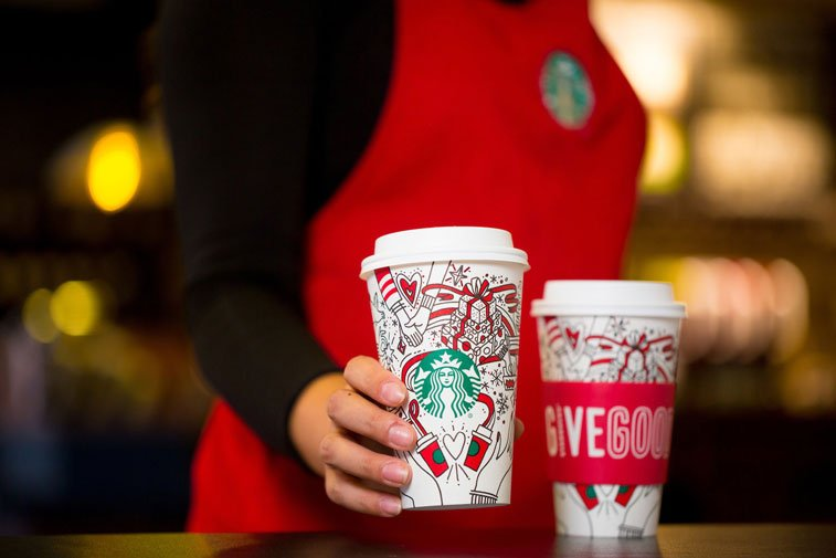 Starbucks cup Christmas package 2