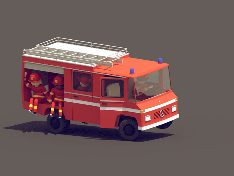 young firefighters guilleaume 3d animation 7