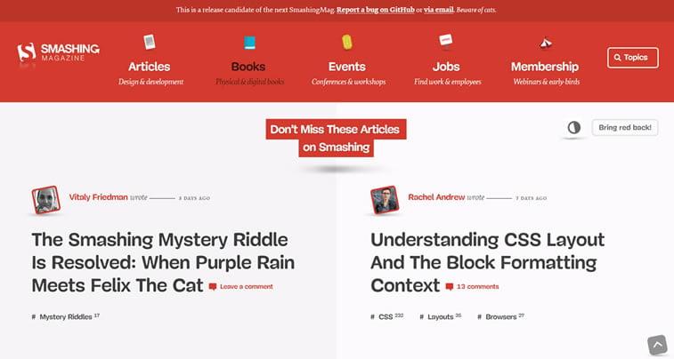 smashing magazine web design blog