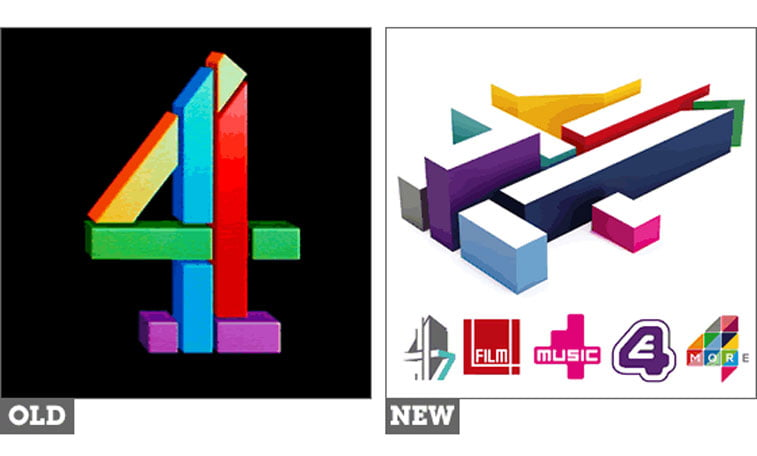 rebrendiranje Channel 4 UK The Logo Factory