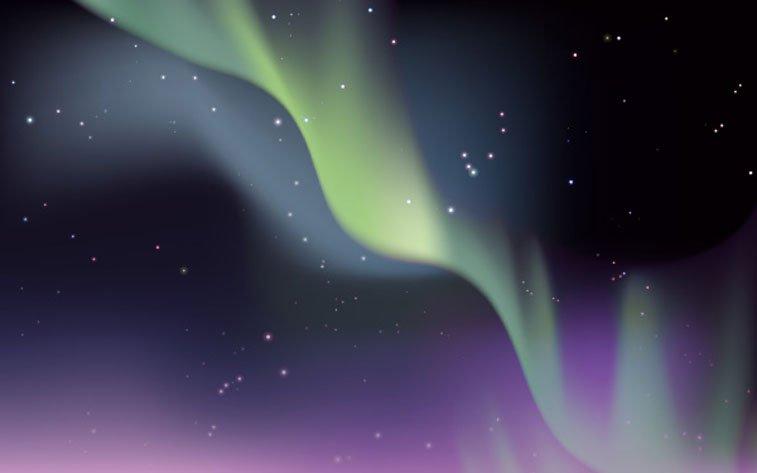 Aurora Borealis dizajn Envito Tuts+