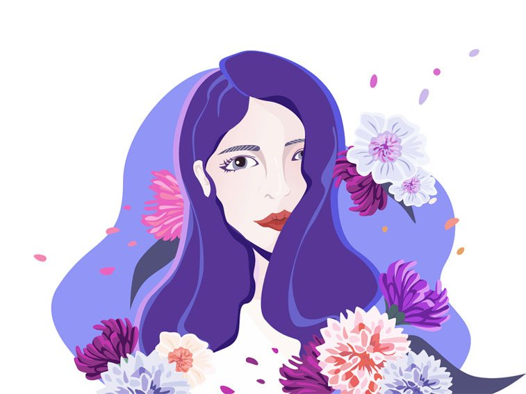 Girl by Sophie Dribbble violet