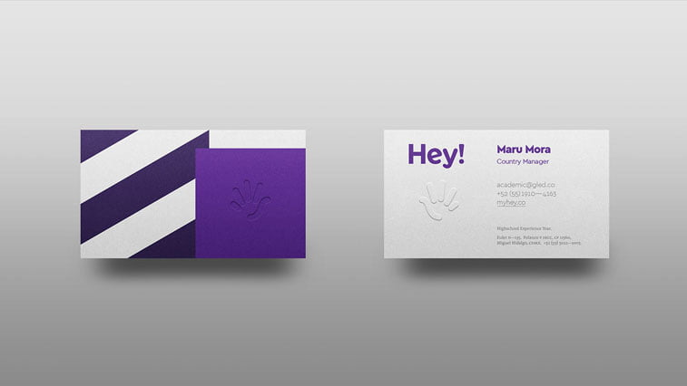 Hey vizit karta Behance ultra violet