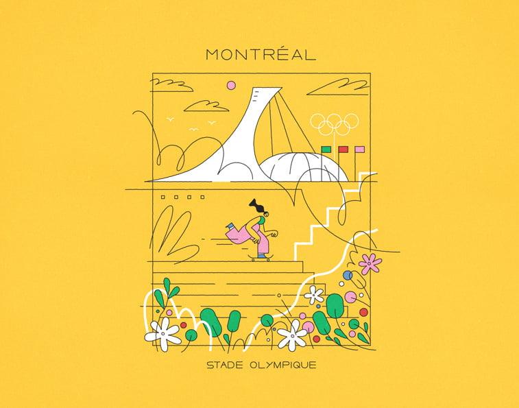 Montreal Stade Olimpique Justina Stazik ilustracije