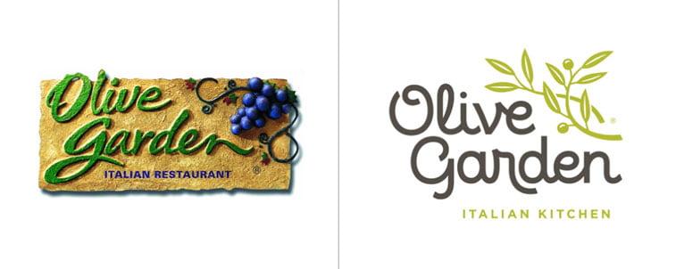 Olive Garden rebrand Pinterest