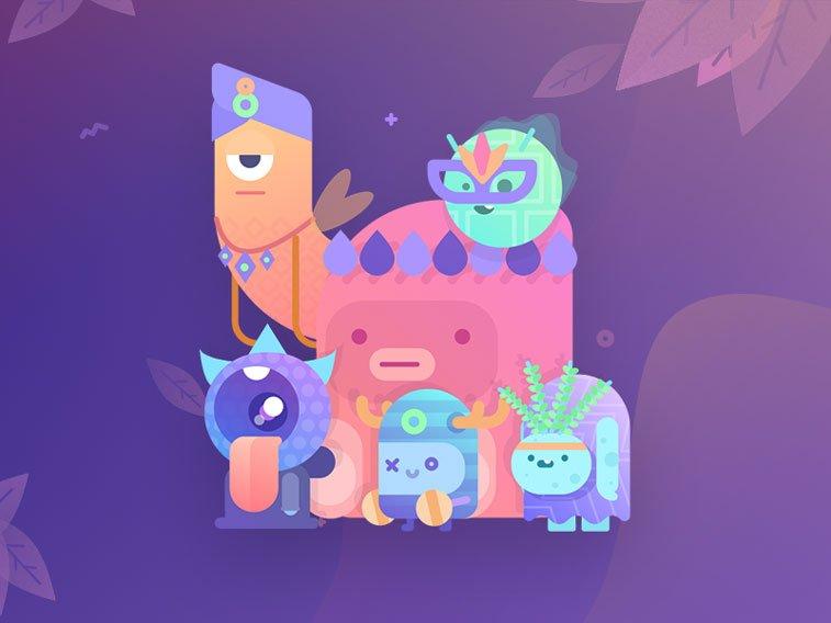 Paperpillar's Squad by Ghani Pradita Dribbble