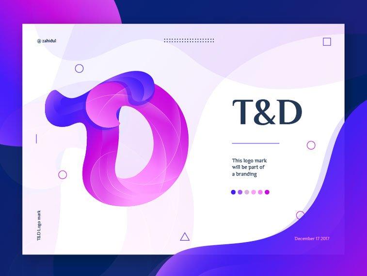 TD logo ultra violet by Zahidul Dribbble