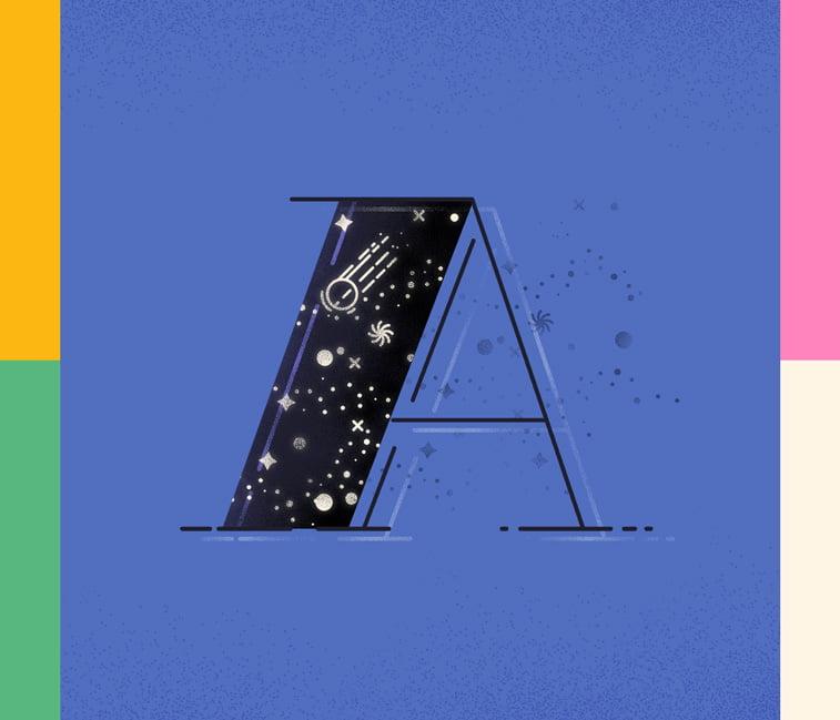Typography A Justina Stazik ilustracije