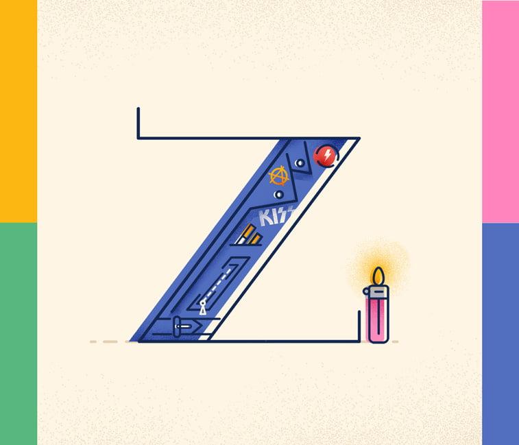 Typography Z Justina Stazik ilustracije