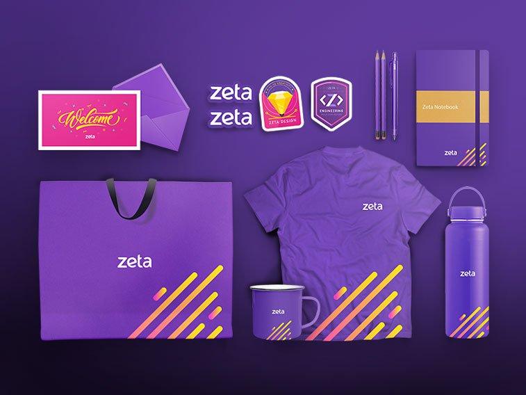 Zeta korporativni dizajn Drible ultra violet