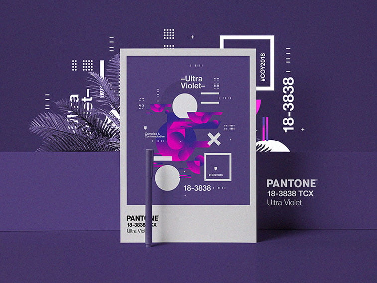 studio jq pantone 2018 poster dribbble
