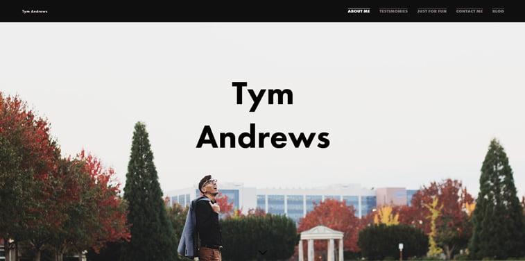 16 Tym Andrews portfolio vebsajt