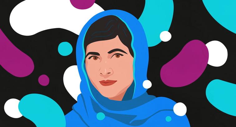 4 Petra Eriksson portrait Malala Yousafzai