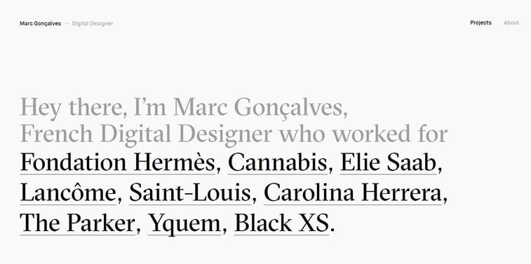 Marc Goncalves portfolio vebsajt