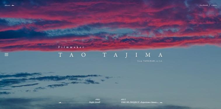 9 Tao Tajima portfolio vebsajt