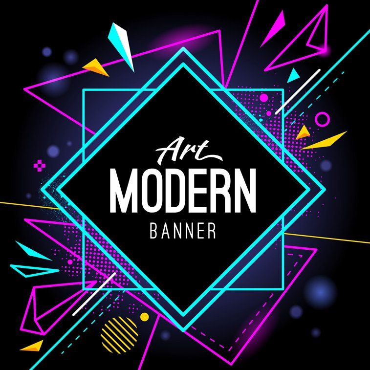Geometry-Modern Banner by Sergey Kondakov Freepik