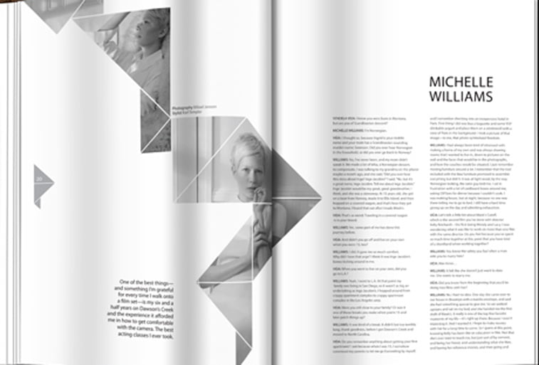 Kaleid magazine layout Behance 2