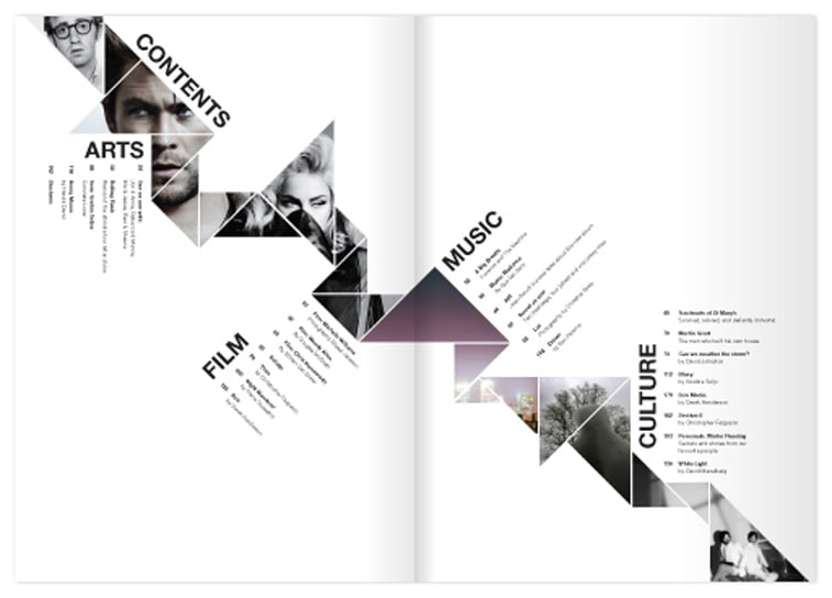 Kaleid magazine layout Behance