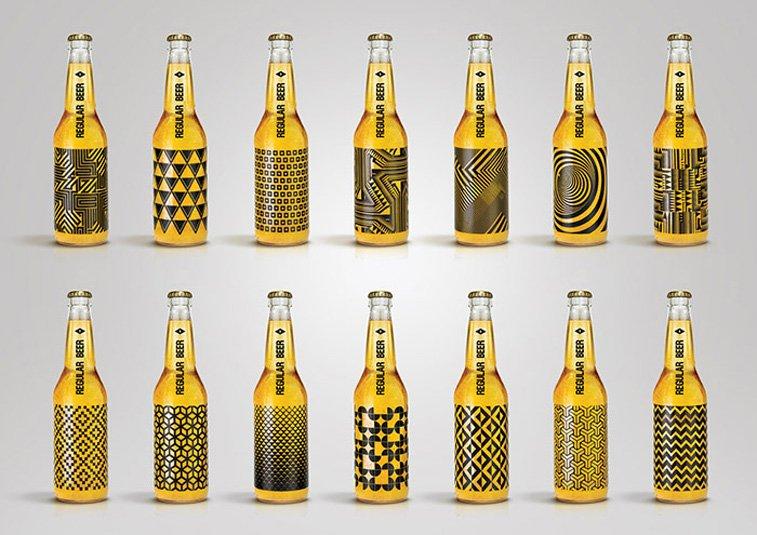 Kamil Piatkowski REGULAR BEER beer 3 pakaging inspiration