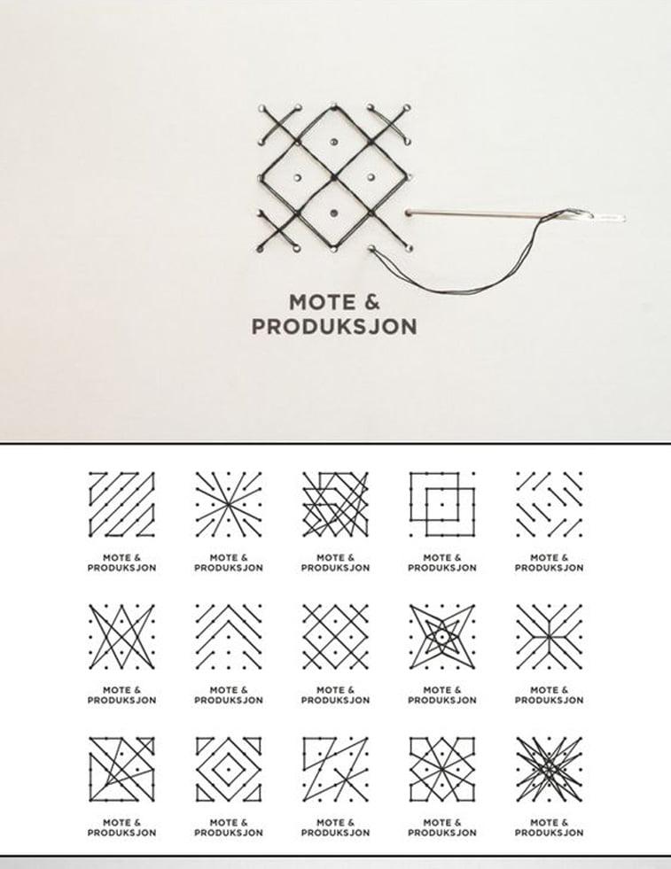 Mote & Produksjon Identity Pinterest