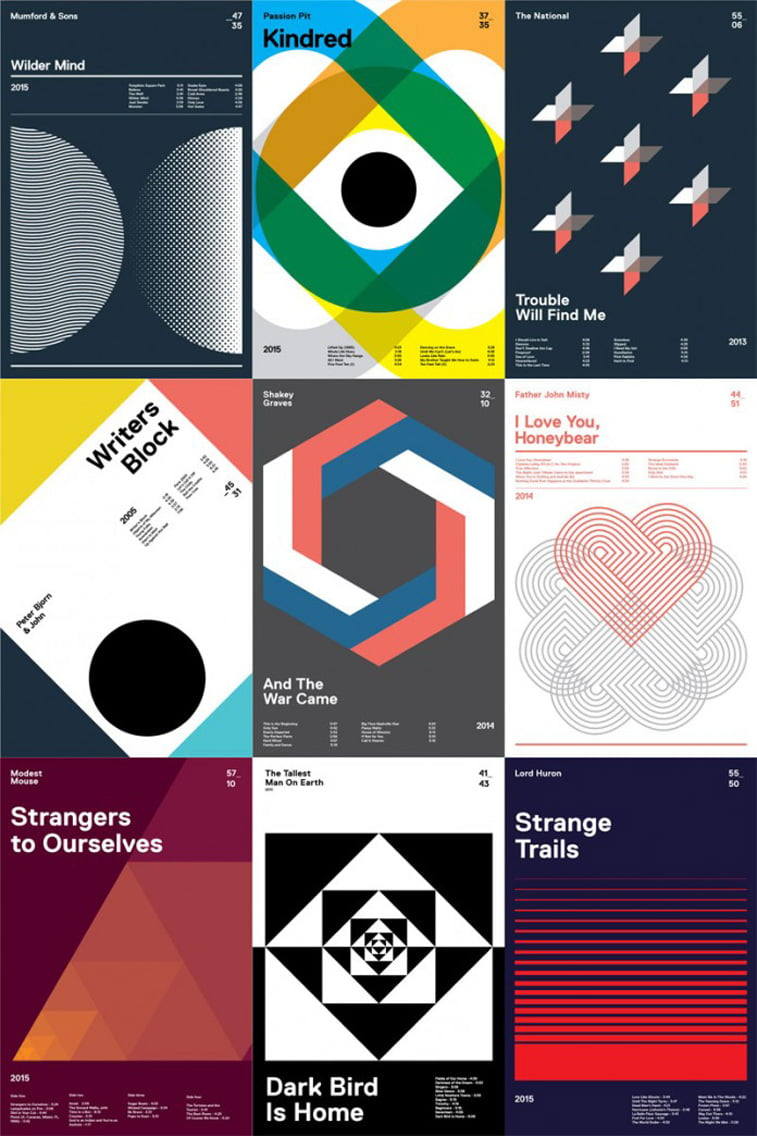 Inspiring use of geometry in graphic design for Design source