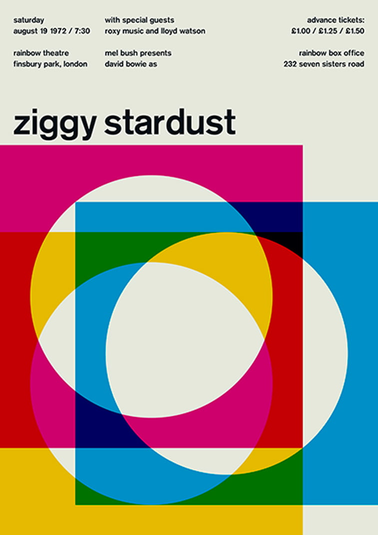 Ziggy Stardust swissted bowie poster