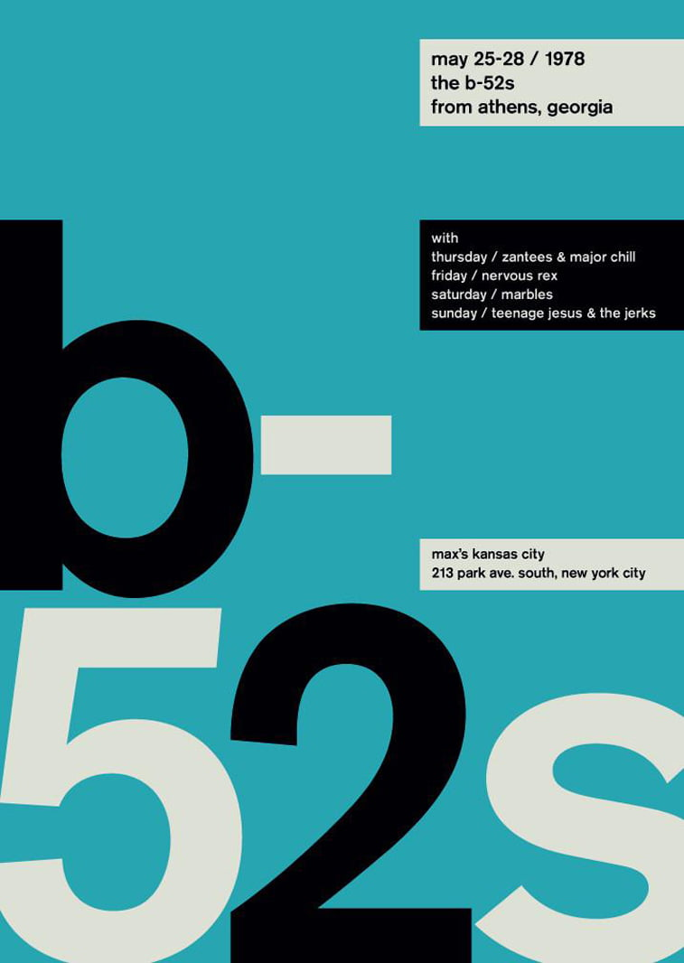 b52s swissted poster