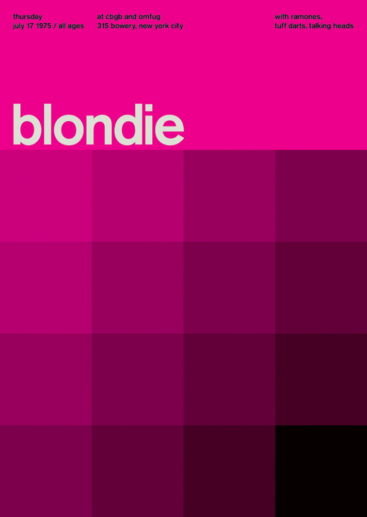 blondie swissted poster