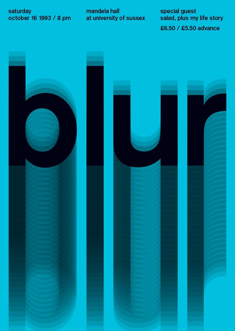 blur swissted poster