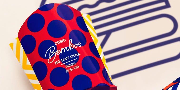 bold packaging design bembos