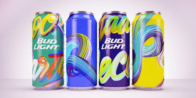 bold packaging design bud light