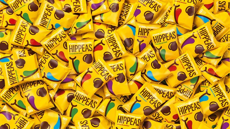 bold packaging design hip peas