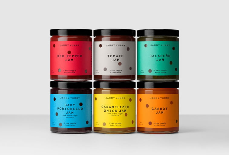 bold packaging design jammy yummy