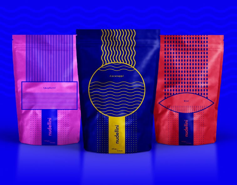 bold packaging design nudellini