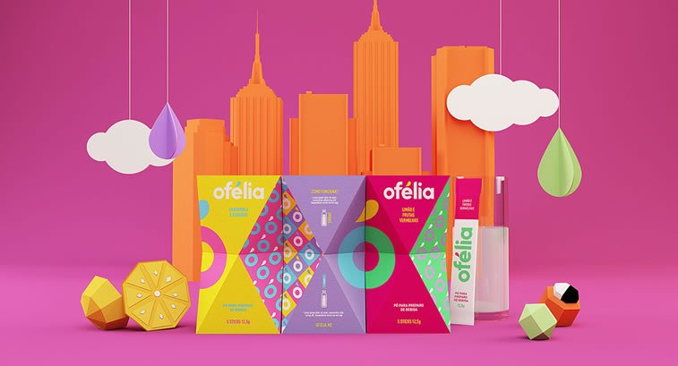 bold packaging design ofelia