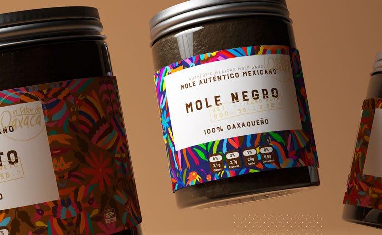 bold packaging design sabor de oaxaca