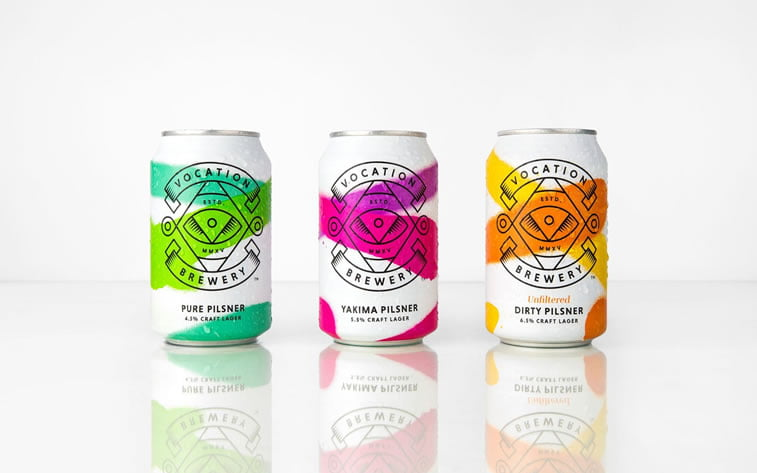 bold packaging design vocation brewery