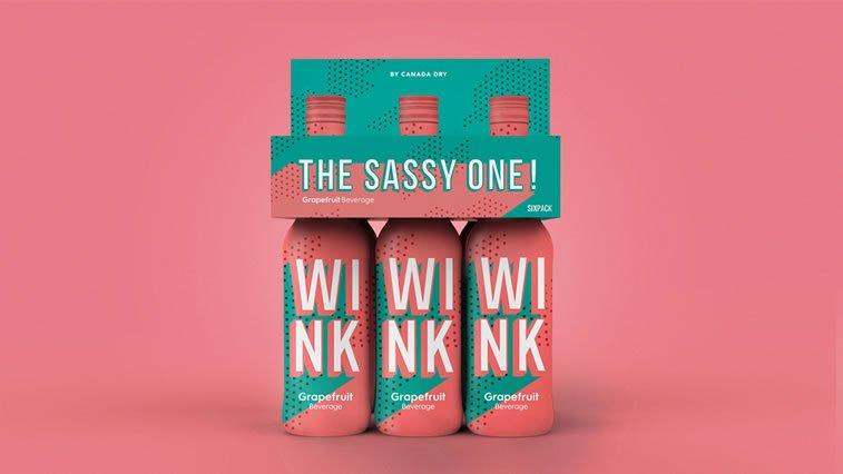 bold packaging design wink